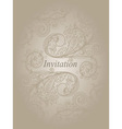 invitation template with abstract floral pattern vector image vector image