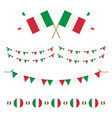 italian flags and ribbons vector image vector image