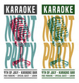 karaoke night party vector image vector image