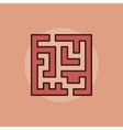 Labyrinth abstract icon vector image vector image