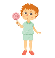 little boy with lollipop vector image vector image