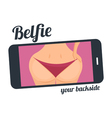 Make belfie photo pretty woman New trend selfie vector image vector image