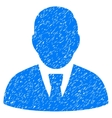 Manager Grainy Texture Icon vector image vector image