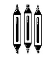 marker pen icon simple black style vector image vector image