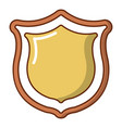 medieval shield icon cartoon style vector image vector image