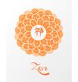 Meditation zen lotus concept vector image vector image