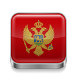 Metal icon of Montenegro vector image vector image