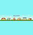 modern cottage house set real estate concept vector image