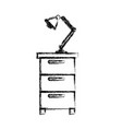 monochrome blurred silhouette of filing cabinet vector image vector image