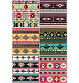 native american fabric collection vector image vector image
