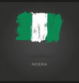 nigeria grunge flag isolated on dark vector image