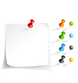 note paper and pins vector image vector image