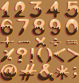 Numerical figures and signs vector image vector image