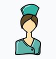 nurse doodle color icon drawing sketch hand drawn vector image vector image