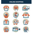 online shopping internet and web icons templates vector image vector image