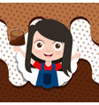 people chocolate candy vector image
