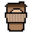 pixel coffee to go - isolated vector image