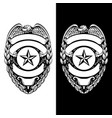 police sheriff law enforcement badge vector image vector image