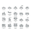 public transport icons vector image vector image