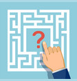 question mark in center maze vector image