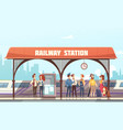 railway station vector image vector image