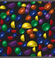 rainbow hemispheres seamless pattern vector image