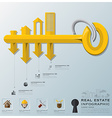 Real Estate And Business Infographic vector image vector image