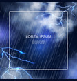 realistic water storm poster vector image vector image