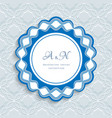round label with wavy border ornament vector image vector image