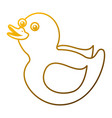 rubber duck toy shower play icon vector image vector image