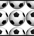 seamless pattern tile cartoon with soccerballs vector image