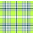 Seamless plaid pattern in bright green and white vector image vector image