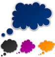 Set of paper color clouds vector image vector image