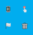 set simple menu icons vector image