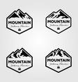 set vintage mountain adventure outdoor logo vector image vector image