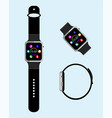 smart watch in different angles vector image