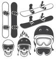 Snowboard set vector image