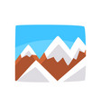 snowy rocky mountains and blue sky beautiful vector image vector image