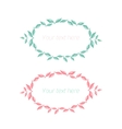 Spring floral circle ornament with text vector image vector image