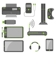 Stylish Simple Computer Devices vector image vector image