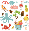 Summer images set vector image vector image