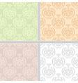 Summer seamless ethnic pattern set vector image vector image