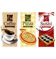 template designs food banners vector image