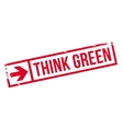 Think green stamp vector image