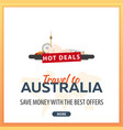 travel to australia travel template banners for vector image vector image