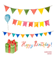 Watercolor set for holiday vector image