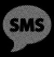white dot sms icon vector image vector image