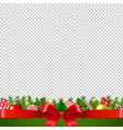 xmas garland transparent background vector image vector image