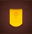 Yellow advertising sticker vector image