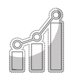 graphic chart icon vector image